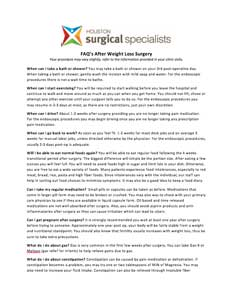 faqs after surgery