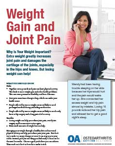 weight gain joint pain