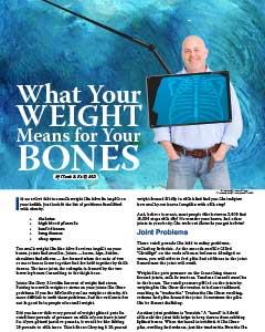 weight effect on bones